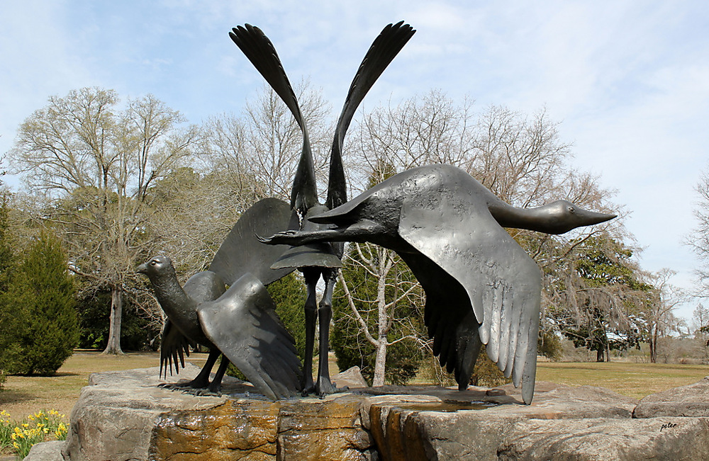 photoblog image Heron, Grouse and Loon - Elliot Offner, Bronze 1992 1/2