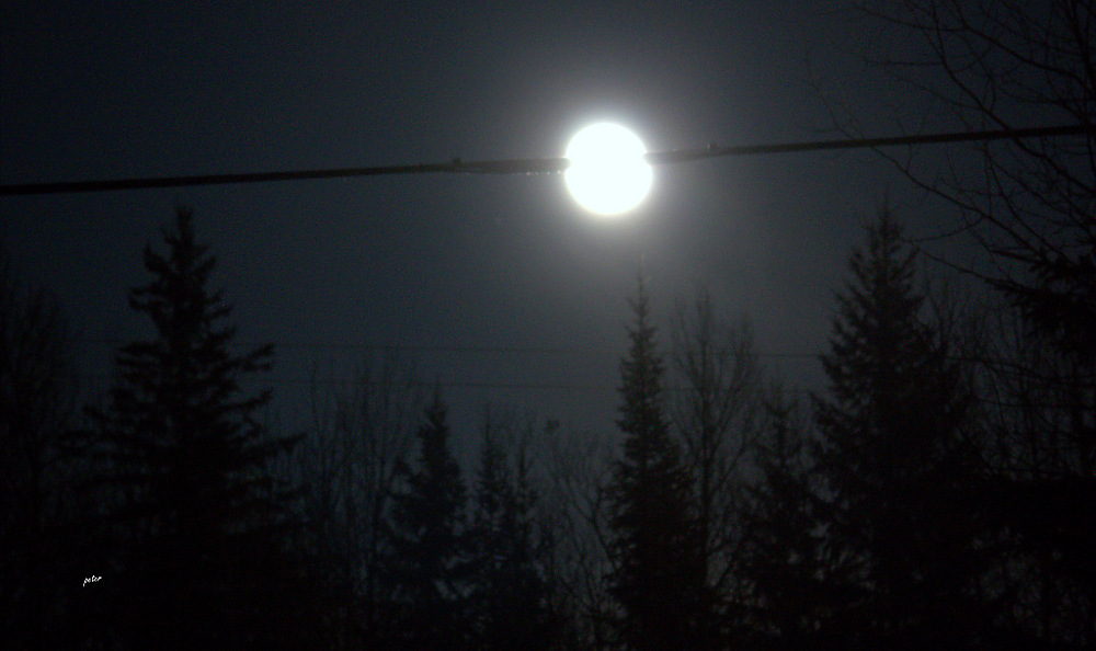 photoblog image Moon on a Wire... My Internet Satellite Provider 1/2