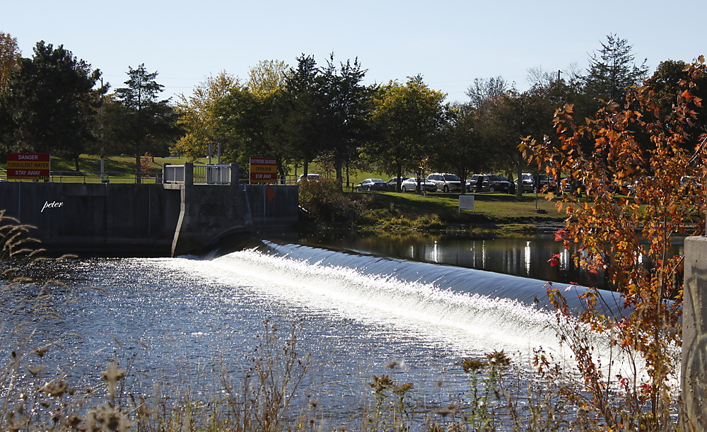 photoblog image Weir on The Moira River, Belleville, ON