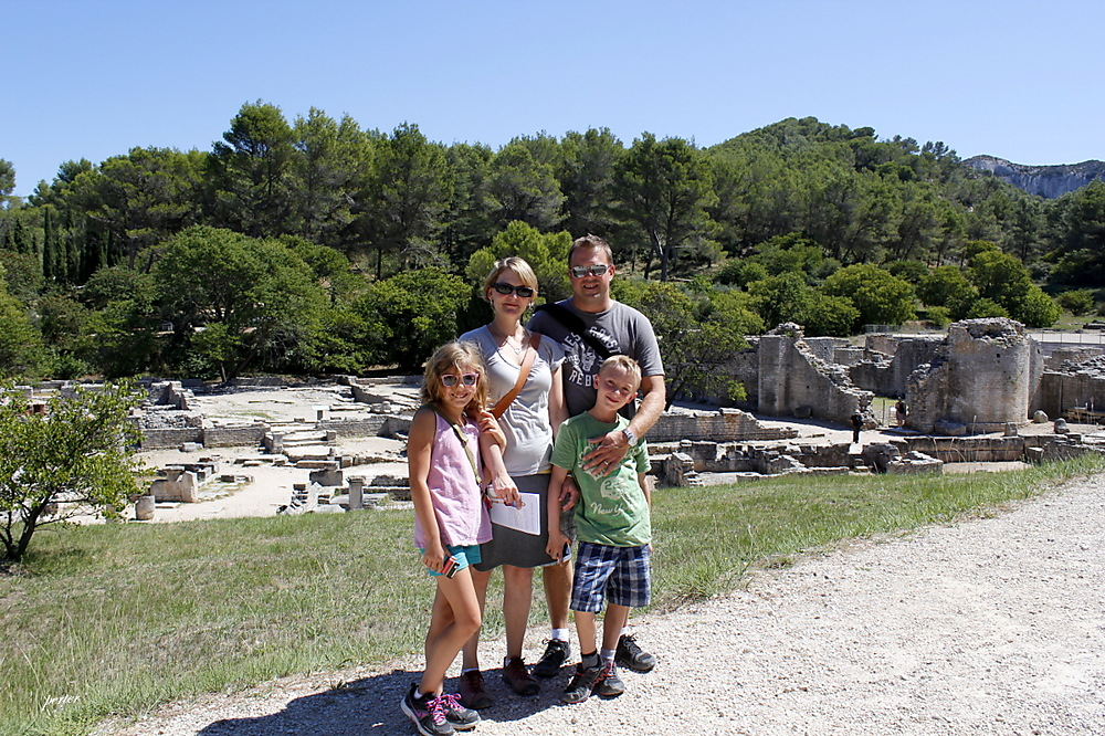 photoblog image Chris and Family on the Road to the Glanum Ruins
