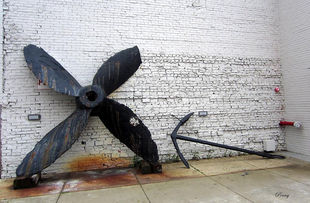 photoblog image Ship's Propeller and Anchor