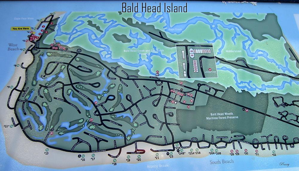 photoblog image Map Of Bald Head Island